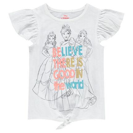 Κοντομάνικη μπλούζα με βολάν και στάμπα πριγκίπισσα ©Disney