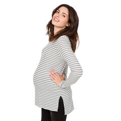 Μακρυμάνικη ριγέ μπλούζα εγκυμοσύνης