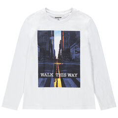 Junior - T-shirt manches longues à message printé
