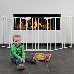 Barrière pare-feu XL avec portillon - Blanc