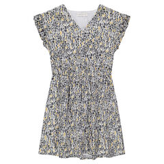 Παιδικά - Κοντομάνικο φόρεμα με εμπριμέ γεωμετρικό μοτίβο