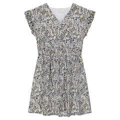 Παιδικά - Κοντομάνικο φόρεμα με εμπριμέ γεωμετρικό μοτίβο eeebb144daa