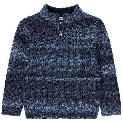 Χοντρό πουλόβερ με φερμουάρ στο λαιμό