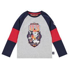 Μακρυμάνικη τρίχρωμη μπλούζα με στάμπα Marcus του Paw Patrol της Nickelodeon™