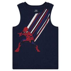 Αμάνικο βαμβακερό με στάμπα Spiderman της ©Marvel