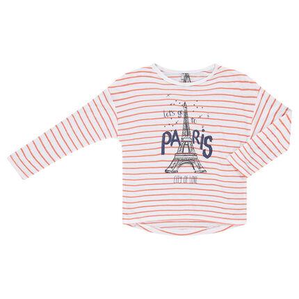 Μακρυμάνικη μπλούζα σε στυλ μαρινιέρας με στάμπα