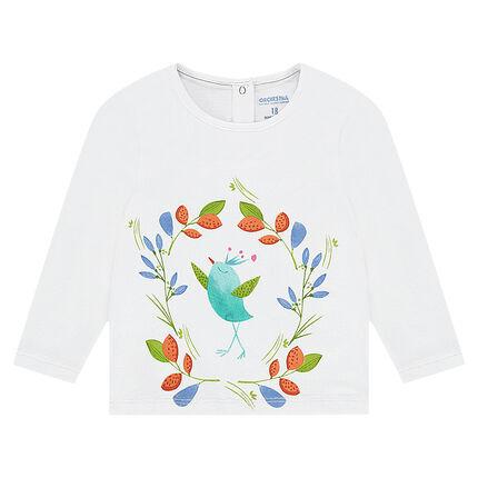 Μακρυμάνικη μπλούζα ζέρσεϊ με χρωματιστή στάμπα