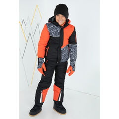 Παιδικά - Παντελόνι σκι μονόχρωμο  με ελαστικές αφαιρούμενες τιράντες και τσέπες