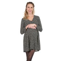 Μακρυμάνικο φόρεμα εγκυμοσύνης με εμπριμέ μοτίβο