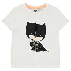 Κοντομάνικη μπλούζα από ζέρσεϊ με εφέ σκισμένου και στάμπα Batman της ©Warner