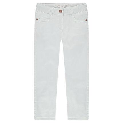 Παστέλ παντελόνι σε γραμμή slim με μόνιμες τσακίσεις