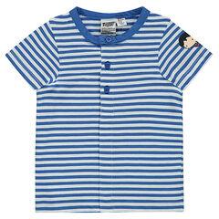Κοντομάνικη ριγέ μπλούζα από ζέρσεϊ με στάμπα Superman JUSTICE LEAGUE - CHIBI