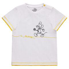 Κοντομάνικη μπλούζα από βαμβακερό πικέ με στάμπα Mickey