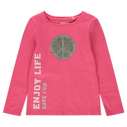 Μακρυμάνικη ζέρσεϊ μπλούζα με τυπωμένο μήνυμα και μοτίβο από «μαγικές» πούλιες