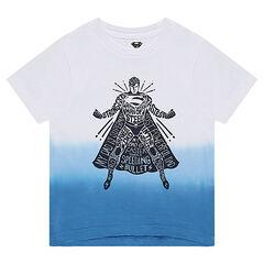 Κοντομάνικη μπλούζα από ζέρσεϊ slub ύφασμα με στάμπα Superman της ©Warner μπροστά
