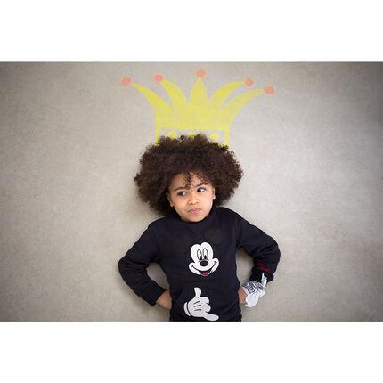 Φανελένιο φούτερ με απλικέ σήμα τον Μίκυ της Disney