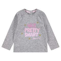 Mακρυμάνικη μπλούζα με διακοσμητική στάμπα και παγιέτες