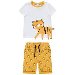 Σετ με t-shirt σχέδιο τίγρη και βερμούδα εμπριμέ , Orchestra