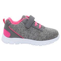 Χαμηλά αθλητικά παπούτσια με ελαστικά κορδόνια και αυτοκόλλητο βέλκρο σε νούμερα 24 έως 29