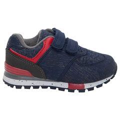 Χαμηλά αθλητικά περλέ παπούτσια με αυτοκόλλητα βέλκρο