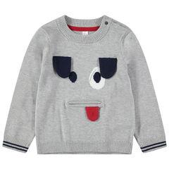 Πλεκτό πουλόβερ με ζακάρ λεπτομέρειες και κινητά μέρη