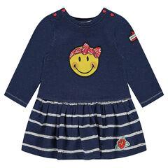 Μακρυμάνικο φόρεμα 2 σε 1 με σήμα ©Smiley σε στυλ rockabilly