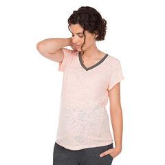 Κοντομάνικη μπλούζα εγκυμοσύνης για το σπίτι σε στιλ ντεβορέ