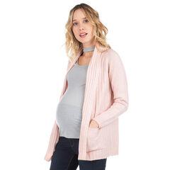 Μακριά ζακέτα εγκυμοσύνης με πλακέ τσέπες