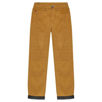 94d96e390cd Παιδικά - Παντελόνι υφασμάτινο με επένδυση ζέρσεϊ και ραφές ...