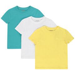 Σέτ από 3  μπλουζάκια μονόχρωμα από οργανικό βαμβάκι