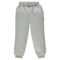 Παιδικά - Μονόχρωμο φανελένιο παντελόνι φόρμας με τσέπη