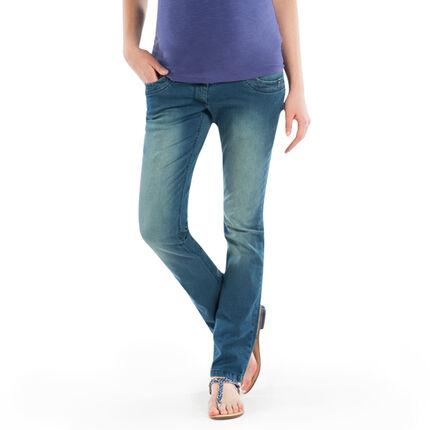 Jeans coupe droite de grossesse effet used