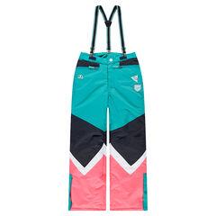 Παιδικά - Παντελόνι σκι σε χρώματα που κάνουν αντίθεση με ελαστικές αφαιρούμενες τιράντες