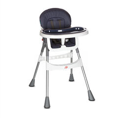 Βασική ψηλή καρέκλα - Μπλε-γκρι