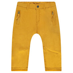 Παντελόνι τουίλ με επένδυση ζέρσεϊ με τσέπες με φερμουάρ