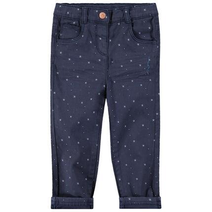 Βαμβακερό παντελόνι με μοτίβο αστέρια