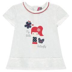 Μακρυμάνικη μπλούζα με τυπωμένη κούκλα