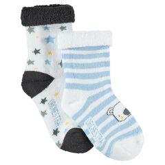 Σετ με 2 ζευγάρια ασορτί κάλτσες με κοάλα και αστεράκια σε ζακάρ