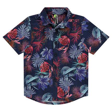 Κοντομάνικο πουκάμισο σε φλοράλ μοτίβο