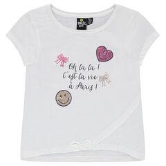 Κοντομάνικη μπλούζα με τυπωμένο μήνυμα και ©Smiley από πούλιες