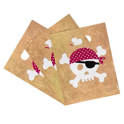 x 10 σακουλάκια γενεθλίων για καραμέλες με σχέδιο Πειρατή