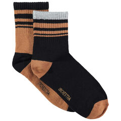 Σετ 2 ζευγάρια κάλτσες με ζακάρ ρίγες σε αντίθεση