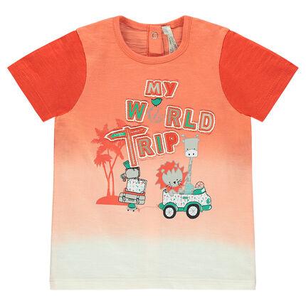 Κοντομάνικη μπλούζα με τύπωμα ζώα