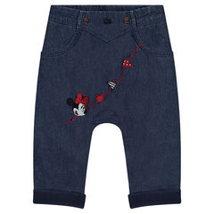 Παντελόνι Disney από σαμπρέ ύφασμα με κεντήματα Μίνι