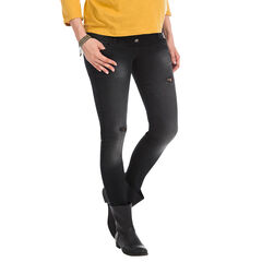 Jeans skinny de grossesse effet used et bandeau haut