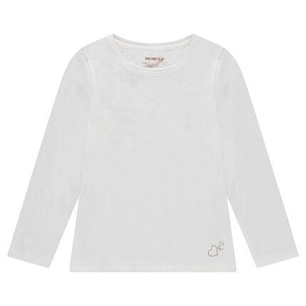 Μακρυμάνικη μπλούζα από ζέρσεϊ με τυπωμένο ασημί λογότυπο