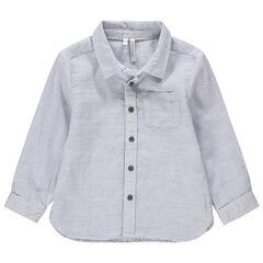 Μακρυμάνικο πουκάμισο με φαντεζί ύφανση