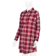 Chemise de nuit de grossesse en flanelle à carreaux