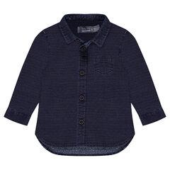 Μακρυμάνικο βαμβακερό πουκάμισο