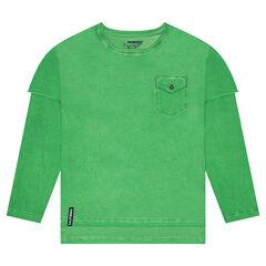 Παιδικά - Μακρυμάνικη μπλούζα 2 σε 1 με τσέπη